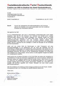 SPD setzt sich für verbesserte Zuschauerinformationen ein!