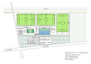 Planung und Bau des Sportzentrums III